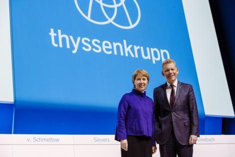 Thyssenkrupp: Martina Merz und Guido Kerkhoff auf der Hauptversammlung 2019 (Foto: Rainer Kaysers)